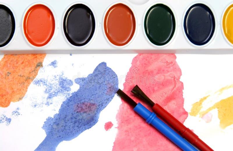 Rood en blauw en andere kleuren royalty-vrije stock afbeeldingen