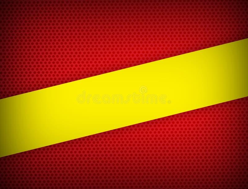 Rood en geel kleuren geometrisch abstract modern ontwerp als achtergrond met exemplaar ruimte Vectorillustratie royalty-vrije illustratie