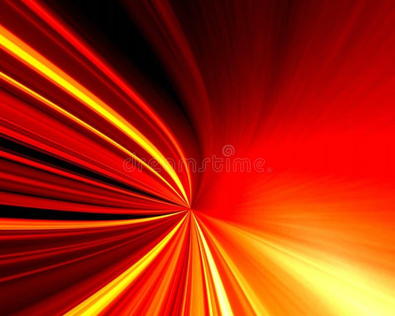 Rood en geel licht royalty-vrije illustratie