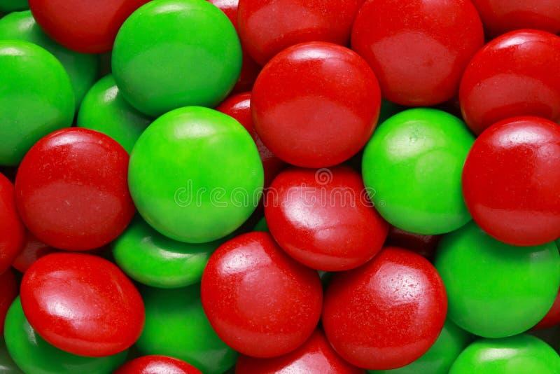 Rood en groen suikergoed stock afbeelding