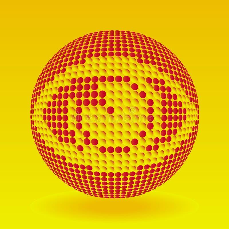 Rood en oranje oog vector illustratie