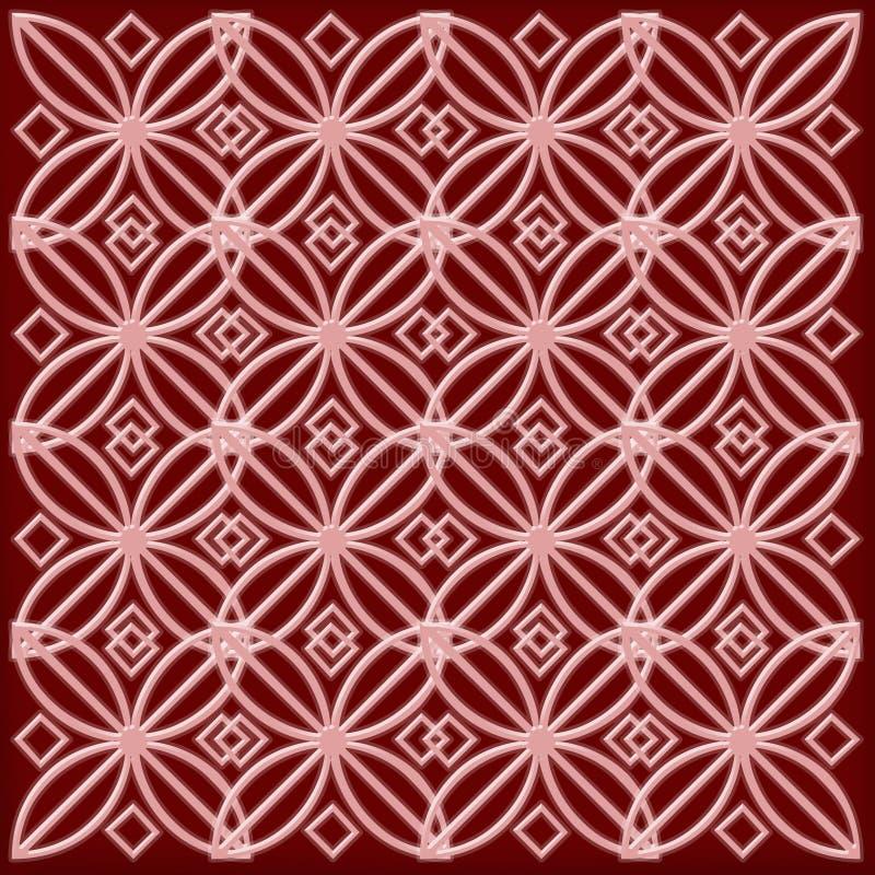 Rood en roze patroon stock foto's