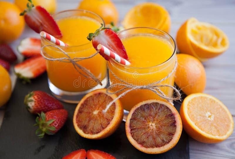Rood en Sinaasappel royalty-vrije stock afbeeldingen