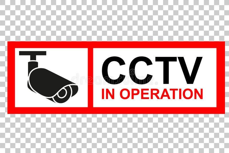 Rood en Wit Teken, kabeltelevisie in Verrichting bij Transparante Effect Achtergrond royalty-vrije illustratie
