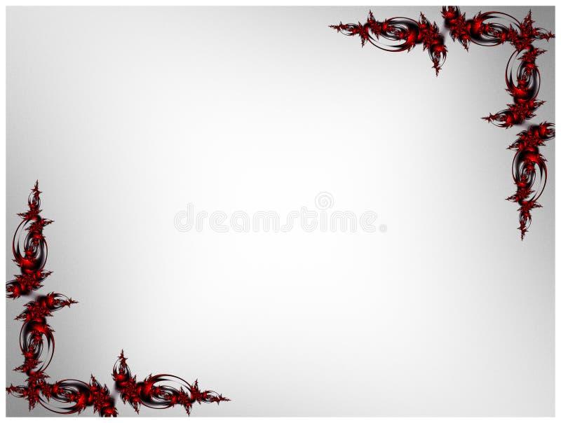 Rood en Zwart Gotisch Kader royalty-vrije illustratie
