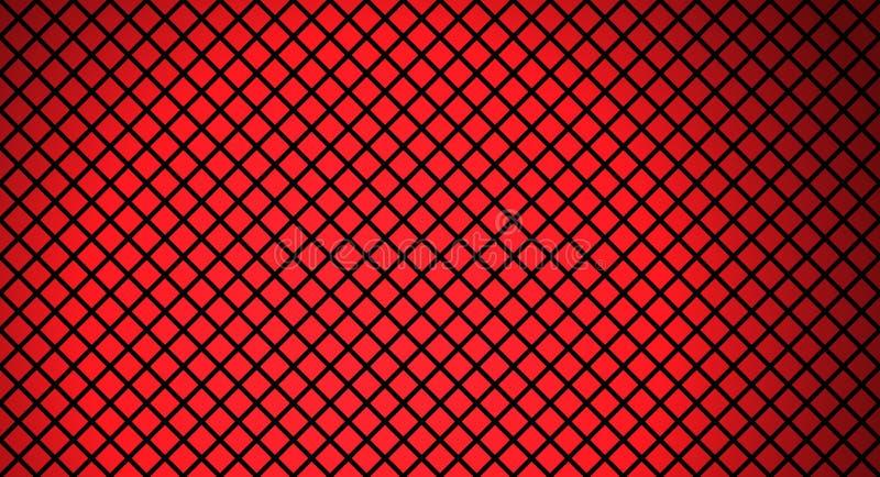 Rood en zwart net vector illustratie