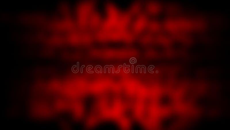 Rood en zwart vaag in de schaduw gesteld behang als achtergrond levendige kleuren vectorillustratie vector illustratie