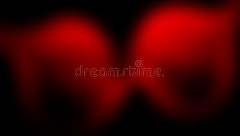 Rood en zwart vaag in de schaduw gesteld behang als achtergrond levendige kleuren vectorillustratie stock illustratie