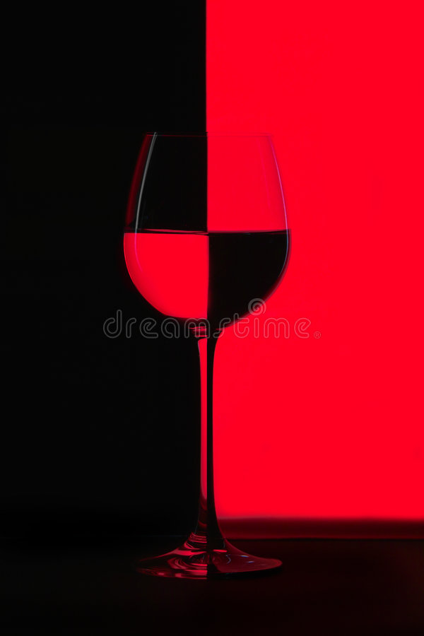 Rood en Zwarte stock afbeelding