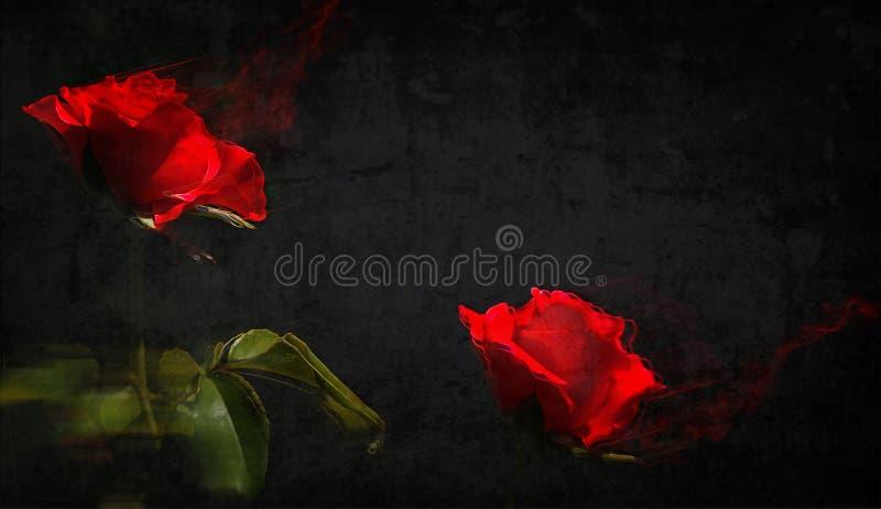 Rood en Zwarte Mechanisme royalty-vrije illustratie