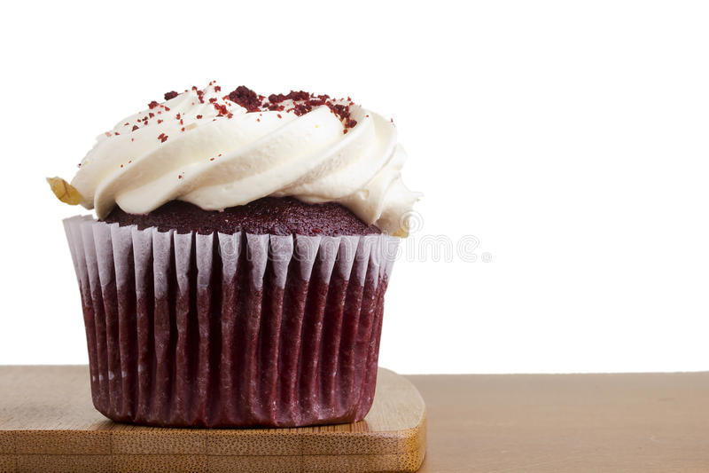 Rood Fluweel Cupcake stock foto's