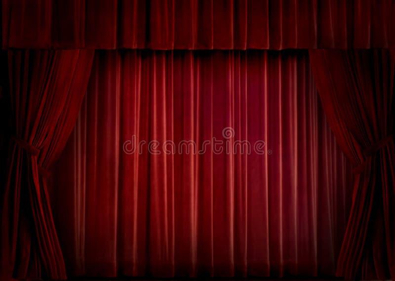 Rood fluweelgordijn royalty-vrije stock foto's