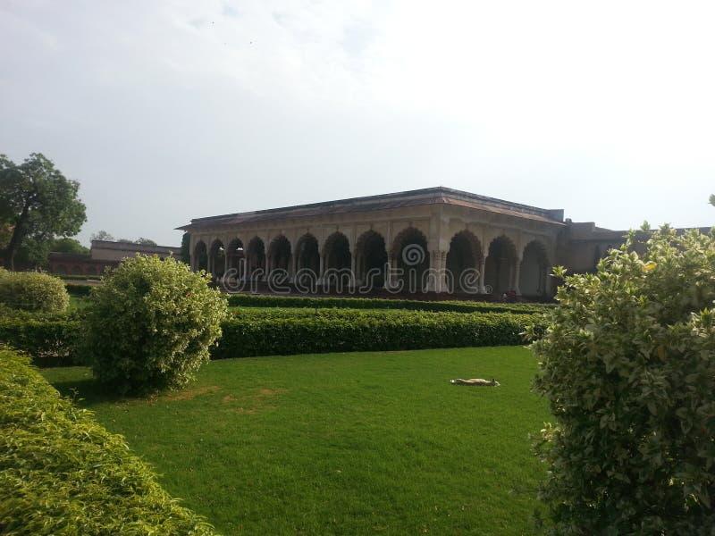 Rood Fort Agra stock fotografie