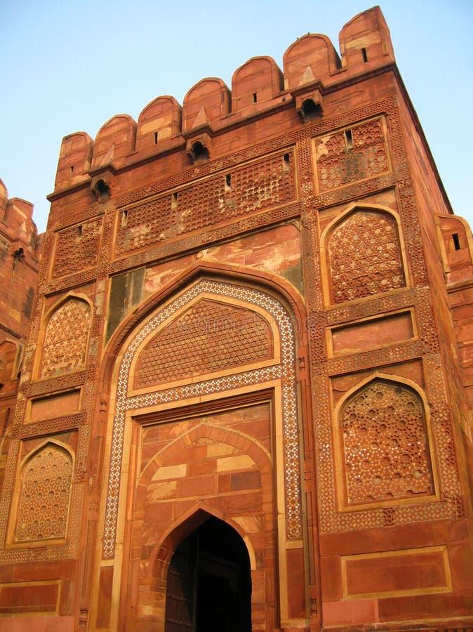 Rood Fort in Agra stock afbeeldingen