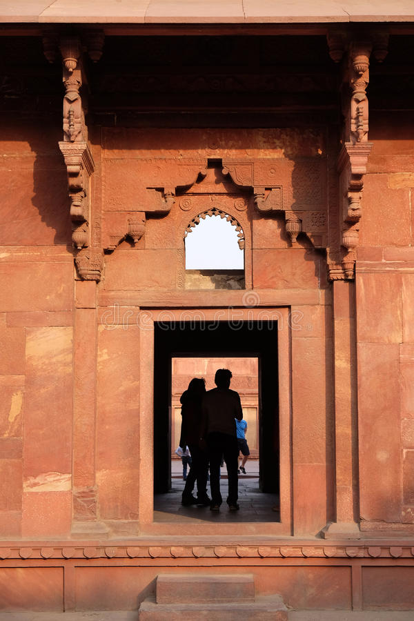 Rood Fort, Agra stock afbeelding