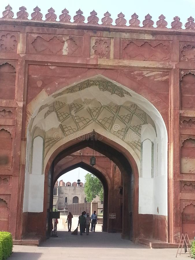 Rood Fort Agra India royalty-vrije stock foto