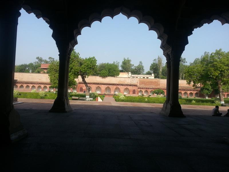 Rood Fort Agra India stock afbeelding