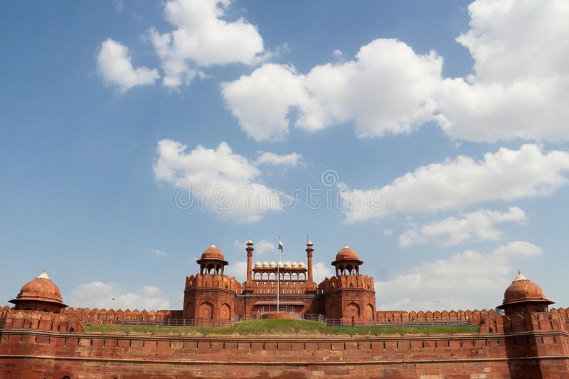 Rood fort in Delhi stock foto