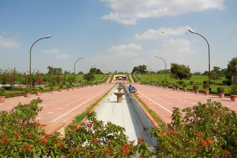 Rood fort in Delhi stock foto
