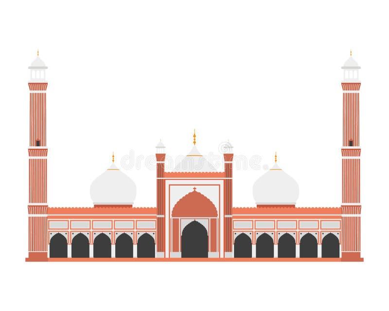 Rood Fort, Delhi, India Vector illustratie vector illustratie