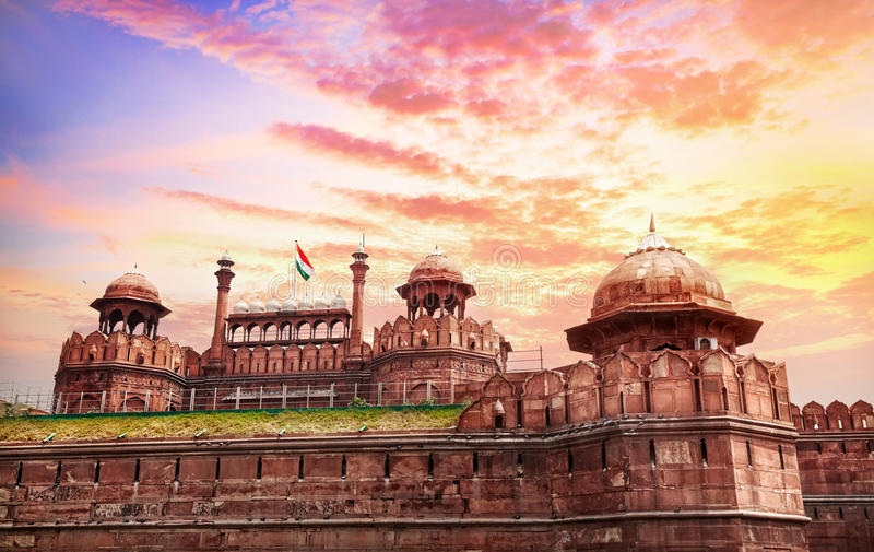 Rood fort in India stock afbeelding