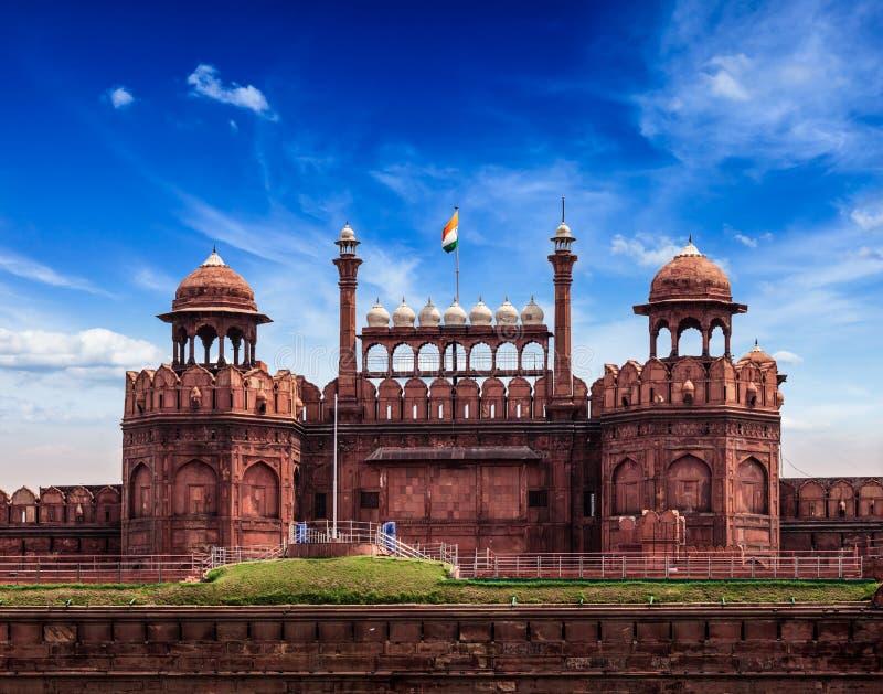 Rood Fort (Lal Qila). Delhi, India royalty-vrije stock foto