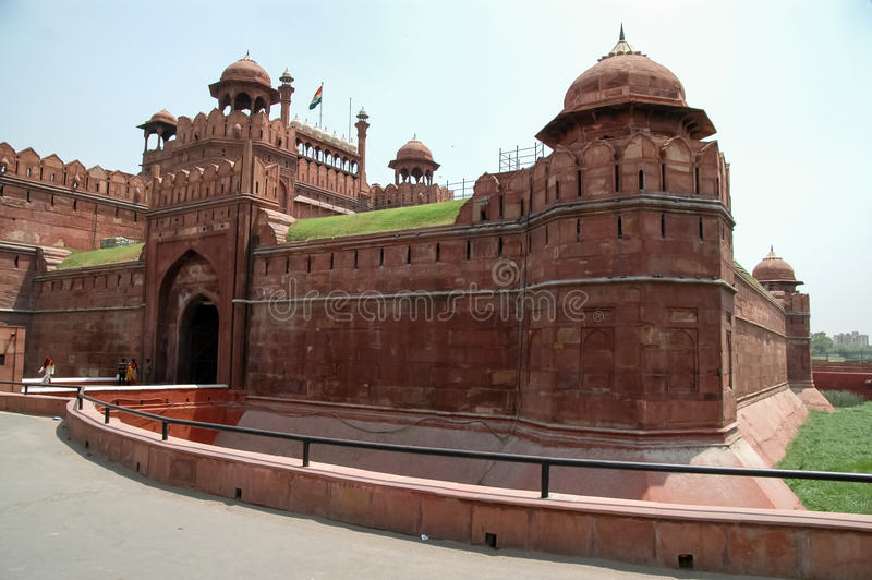 Rood fort in New Delhi, India stock foto's