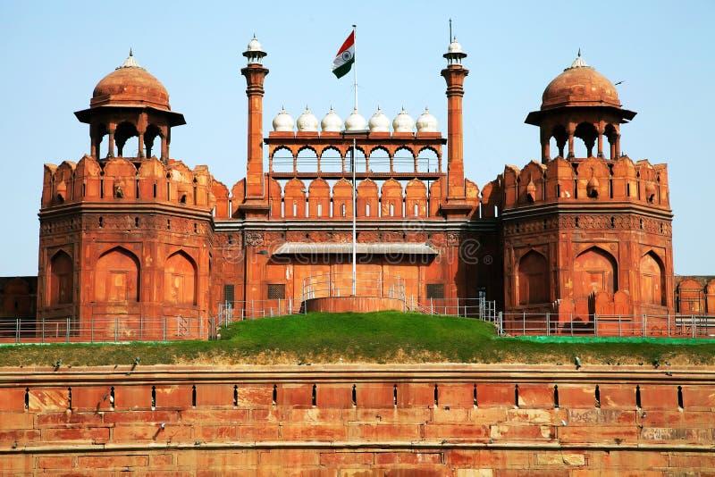 Rood Fort van New Delhi stock fotografie
