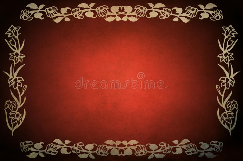 Rood Frame Grunge stock illustratie