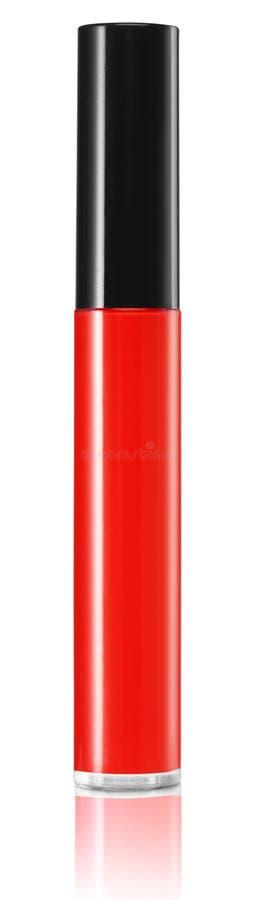 Rood geïsoleerd cosmetische product stock afbeelding