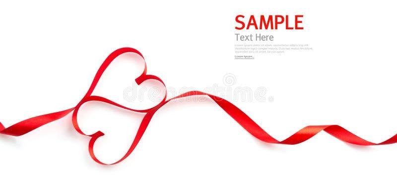 Rood geïsoleerd hartlint stock foto