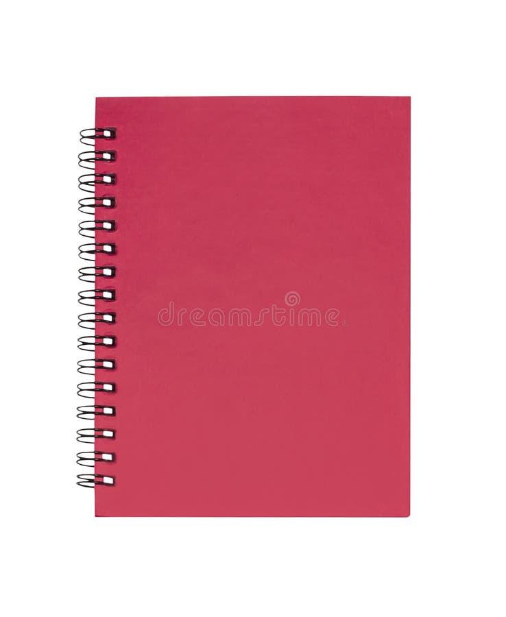 Rood geïsoleerd sluitnotaboek royalty-vrije stock foto's