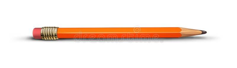 Rood geïsoleerde potlood stock illustratie