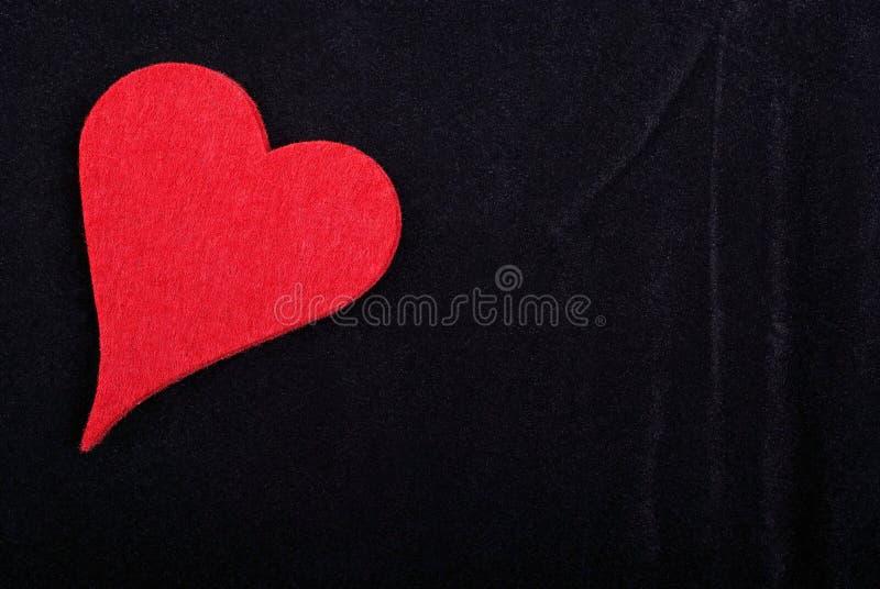 Rood geïsoleerdt hart royalty-vrije stock foto