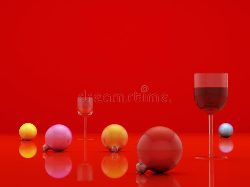Rood gebied vector illustratie