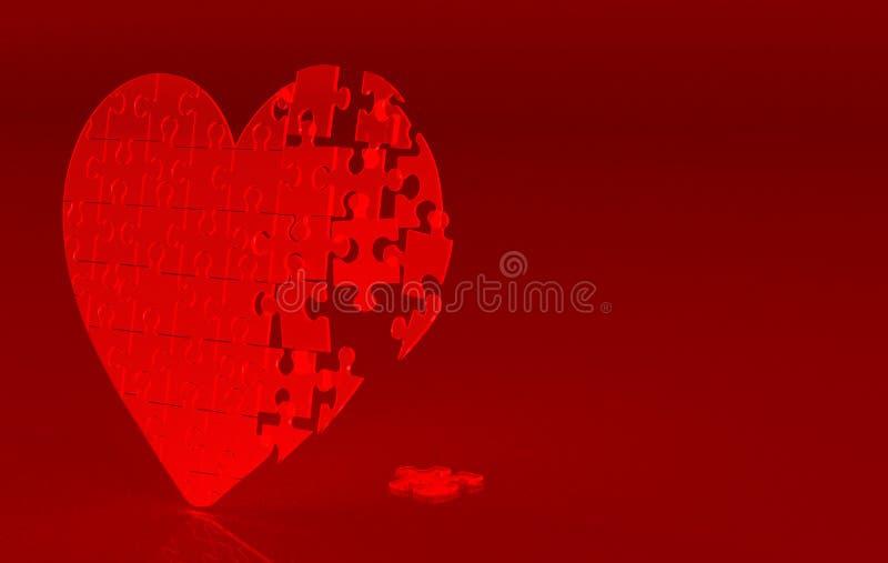 Rood gebroken hart royalty-vrije illustratie