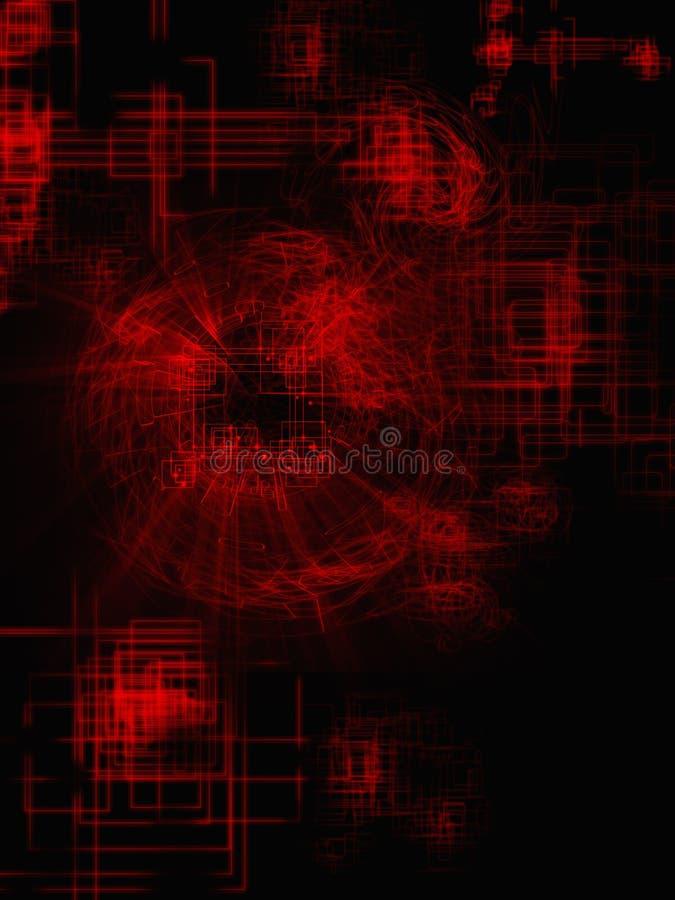 Rood geometrisch net van lijnen royalty-vrije stock foto's