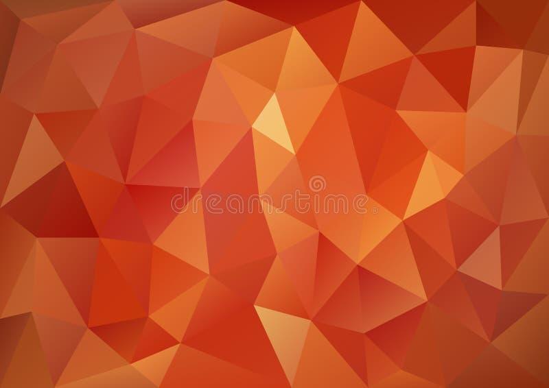 Rood Geometrisch Patroon vector illustratie