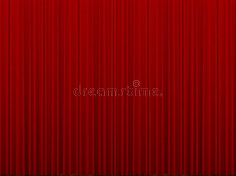 Rood gesloten gordijn stock afbeelding. Afbeelding bestaande uit ...