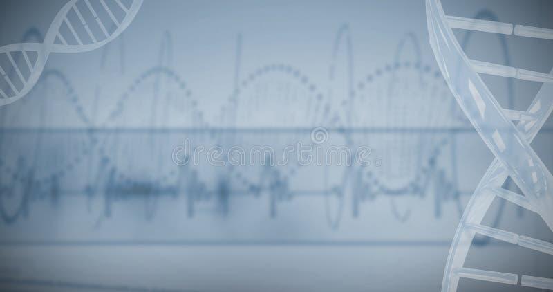 Rood gestippeld schroefpatroon van DNA royalty-vrije stock afbeelding