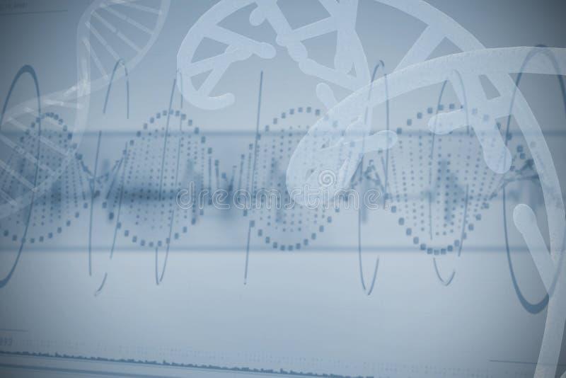 Rood gestippeld schroefpatroon van DNA royalty-vrije stock fotografie