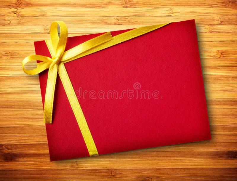 Rood giftpakket   royalty-vrije stock afbeelding