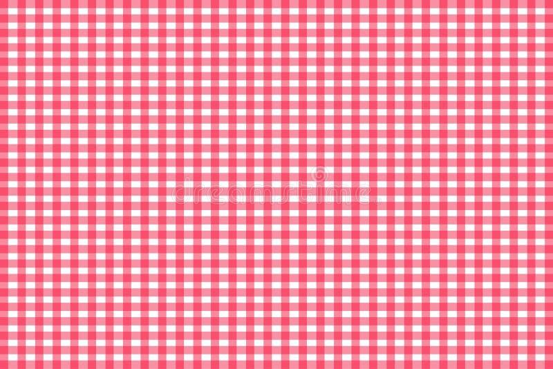 Rood Gingang naadloos patroon Textuur van ruit/vierkanten voor - plaid, tafelkleden, kleren, overhemden, kleding, document, bedde vector illustratie