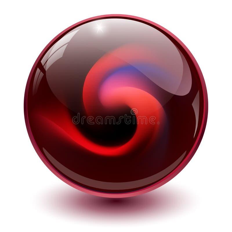 Rood Glasgebied vector illustratie