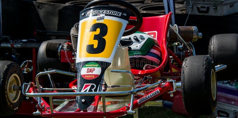 Rood Go-kart stock foto