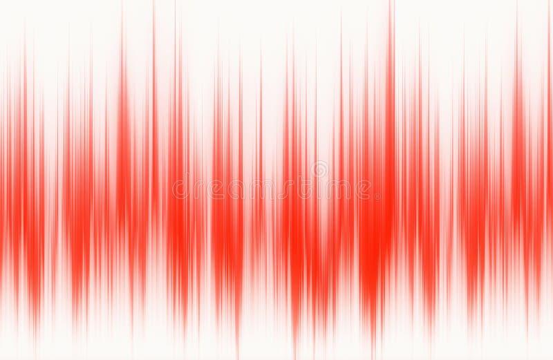 Rood golfvormpatroon met exemplaarruimte stock illustratie