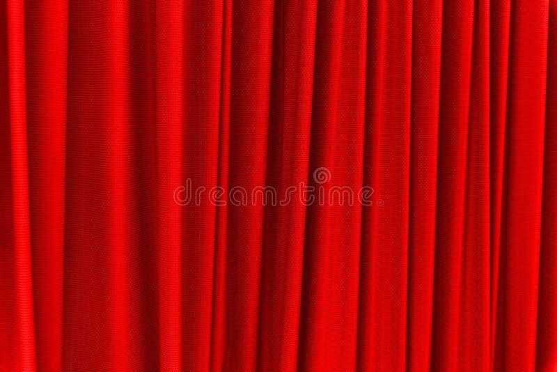 Rood gordijn - gebruik voor achtergrond royalty-vrije stock foto