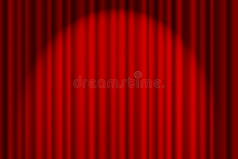 Rood Gordijn op stadium stock afbeeldingen
