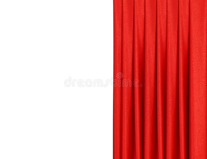 Rood gordijn op theater of bioskoop lichtjes open stadium stock foto's