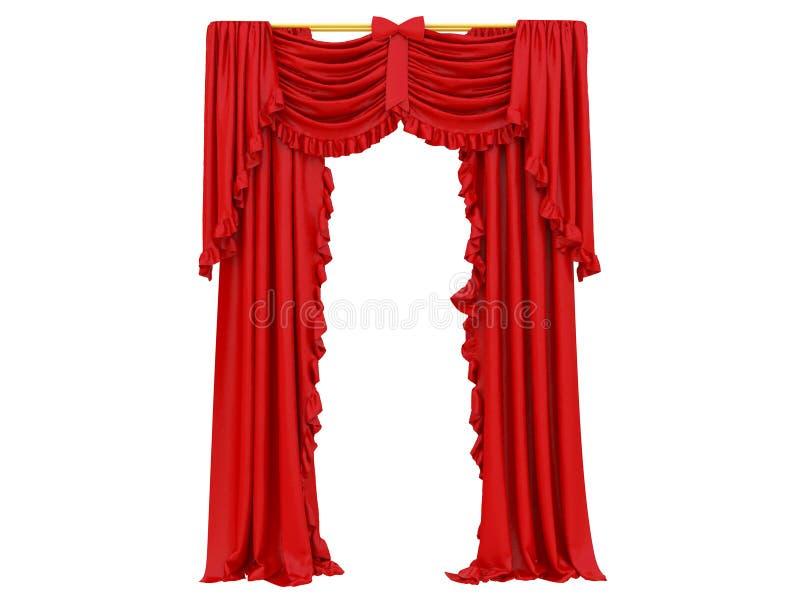 Rood gordijn van een theater stock illustratie